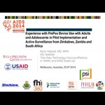Experience with PrePexDevice Use with Adults and Adolescents in Pilot Implementation and Active Surveillance from Zimbabwe, Zambia and South Africa