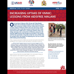 Increasing the Uptake of VMMC: Lessons from AIDSFree Malawi