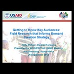 Getting to Know Key Audiences