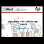 Experiences with Commodities: Tanzania