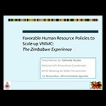 Favorable Human Resource Policies to Scale up VMMC