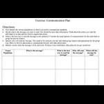 Communication planning sheets