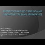 thumbnail_Samkange_institutionalizing_training